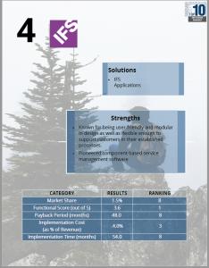 Изображение страницы отчета Top 10 ERP Systems Rankings Report for 2017, посвященной IFS