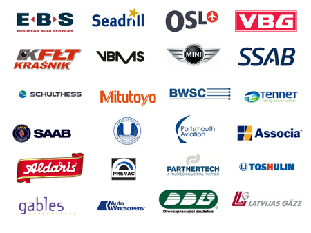 Логотипы клиентов IFS, внедрившие модуль IFS Ремонты и техническое обслуживание